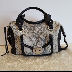 Aimee Kestenberg Gray Snake Zoe bag